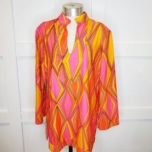 Jude Connelly Chris Tunic Top 3/4 Sleeve 70s Print